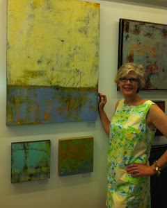 Cindy Walton at art exhibit