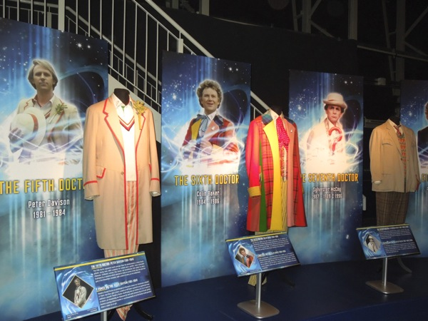 Fifth Sixth Seventh Doctor Who costumes