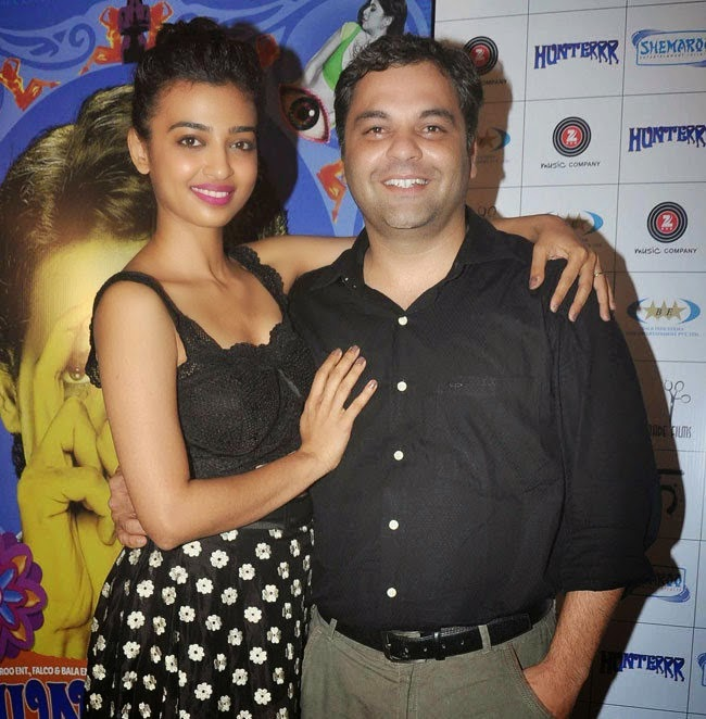 Radhika Apte Spicy Stills at Hunterrr Movie Success Party