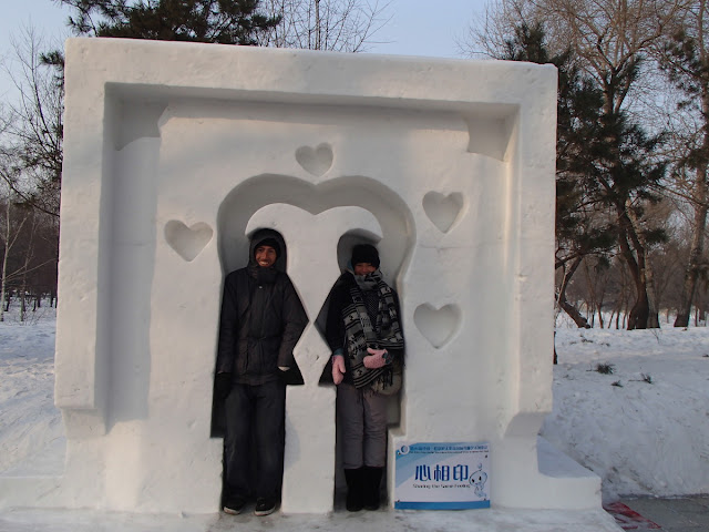 Snow Sculpture Art Expo Love