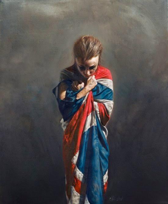 Mitch Griffiths pinturas hiper-realistas estilos clássicos com temas modernos crítica social