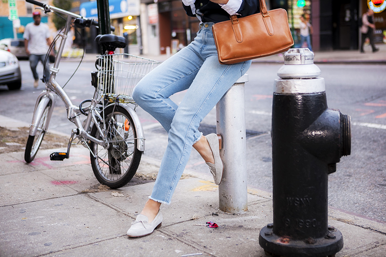 Fashion Over Reason JCrew loafers, Frame denim, Coach bag