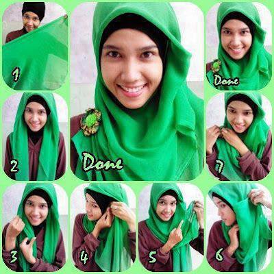 kali ini seputar Gambar Tutorial Cara Memakai Hijab Cantik Mudah dan