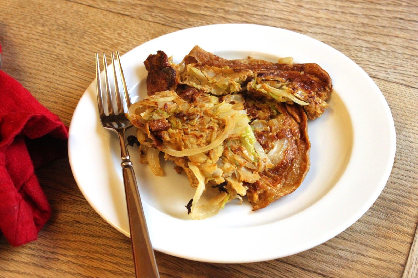 Chinese Cabbage And Onion Omelet
