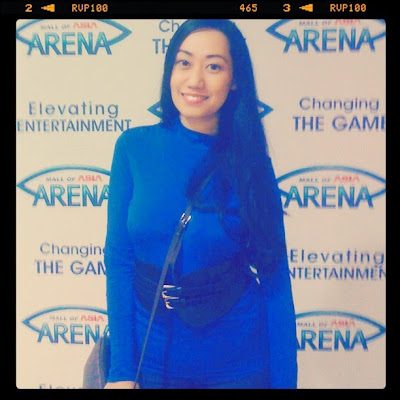 Trisha Claudine Sebastian in SM Mall of Asia Arena for the Saltimbanco of Cirque du Soleil