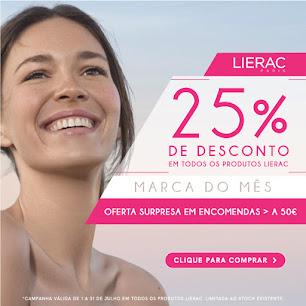 SKIN | LIERAC -25% em Todos os Produtos + OFERTA Surpresa