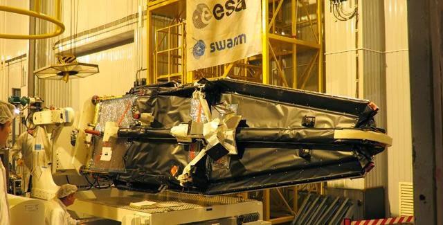 Swarm satellite. Credit: ESA/B. Bergaglio