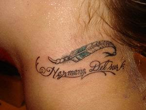 Feather Tattoos, Tattooing