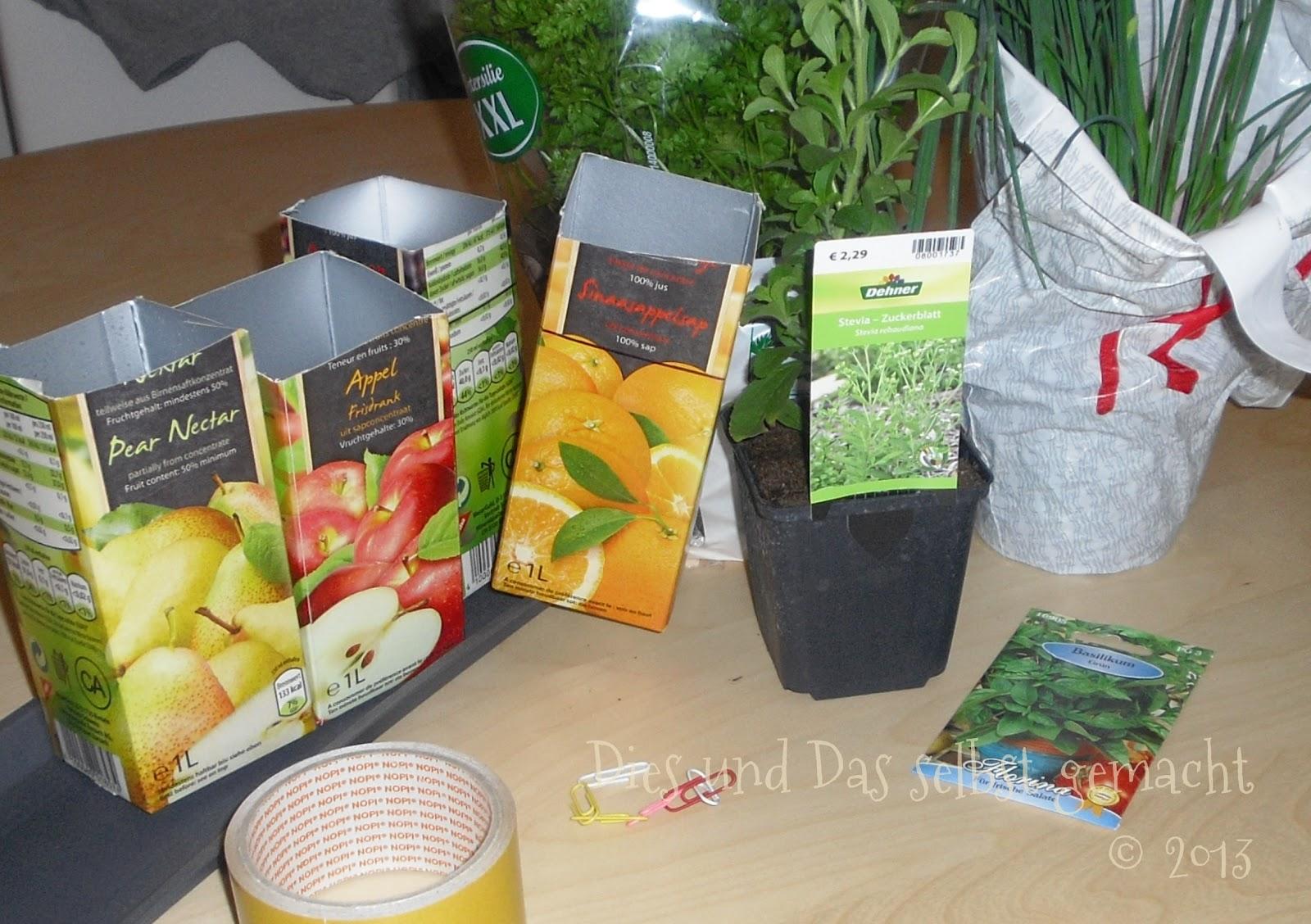 Dies und Das selbst gemacht: Ein Kräutergarten für das Küchenfenster