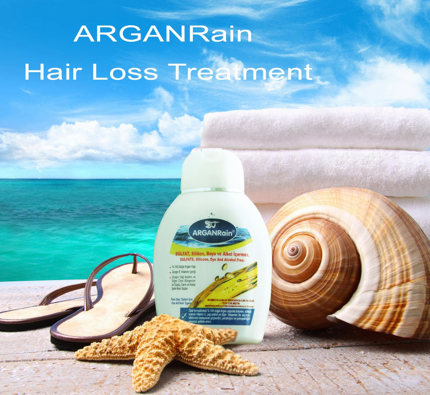 HAIR LOSS SHAMPOO  ArganRain Ultra Nourishing Hair and Skin Care