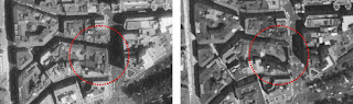Fachadismo en Málaga, edificio histórico demolido parcialmente en calle Molina Lario 20-22 esquina calle La Bolsa 14-16