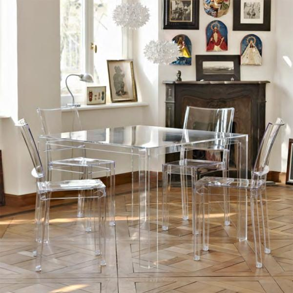modern decor - see through table