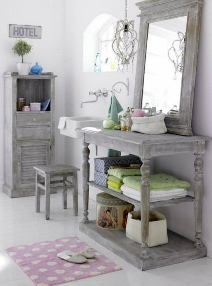 Decorated chaos shabby chic love for French shabby chic bathroom ideas