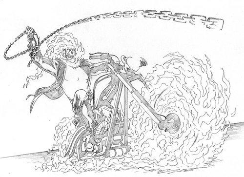 Free Ghost Rider Coloring Pages For Kids