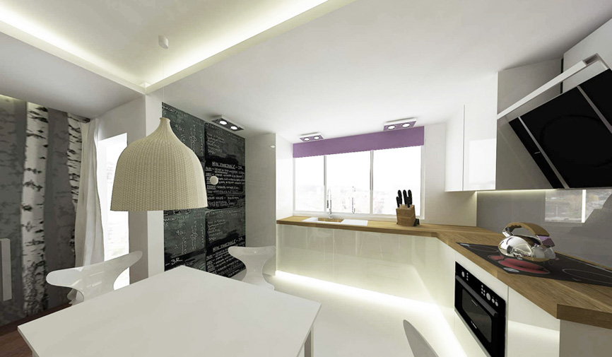 Wohnung design flat project bydgoszcz for Wohnung design 3d