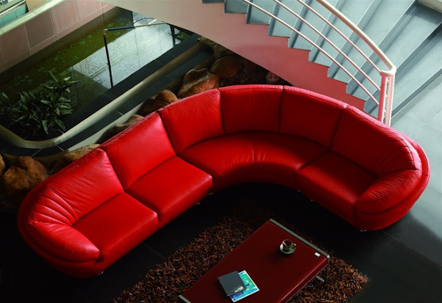 EHO Studios Classic Style Italian Leather Sectional