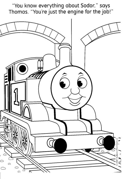 Thomas the Tank Engine Coloring Pages title=