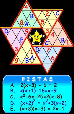 Sudoku, Sudoku Estrella, Variantes del Sudoku, Sudoestrella