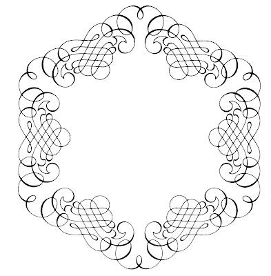 Calligraphy Borders Clip Art