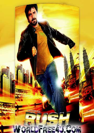 Poster Of Bollywood Movie Rush (2012) 300MB Compressed Small Size Pc Movie Free Download worldfree4u.com