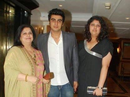 Arjun Kapoor mother and sister