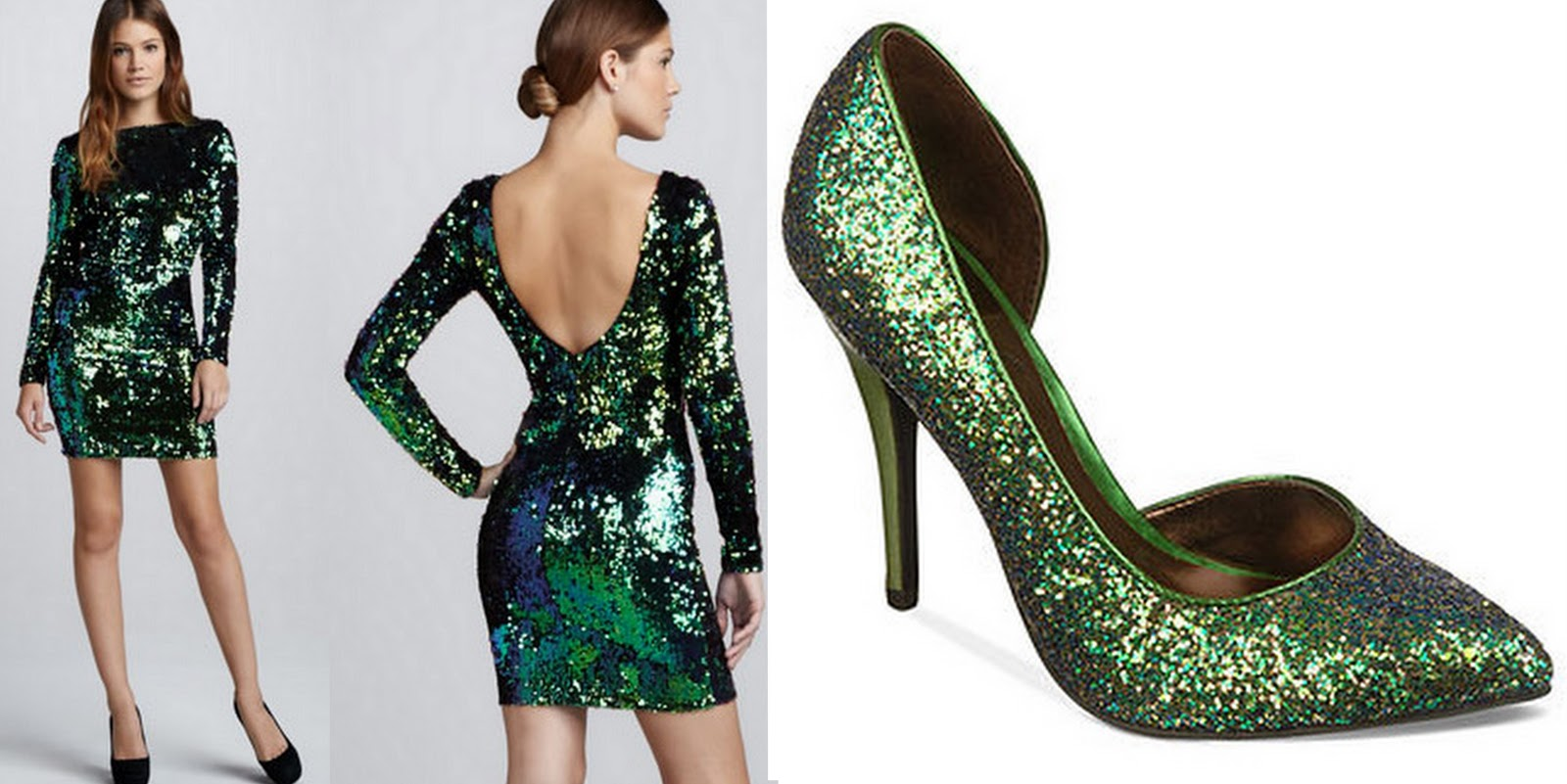 pretty cute and outrageous preen in green christmas party ensemble