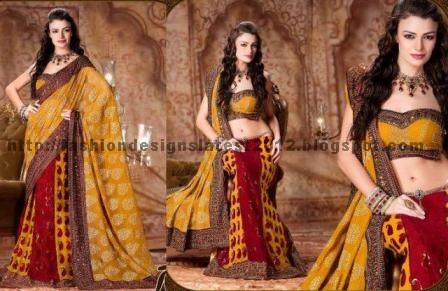 Stylish-bridal-lehenga-saree