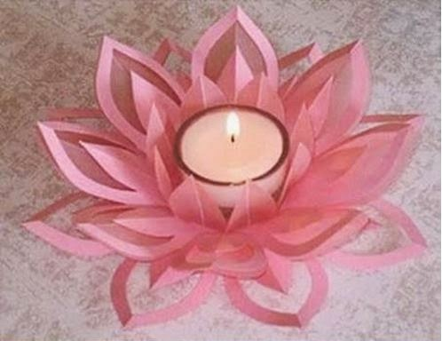 diy paper lotus candlestick the idea king ForDiy Paper Lotus Candlestick