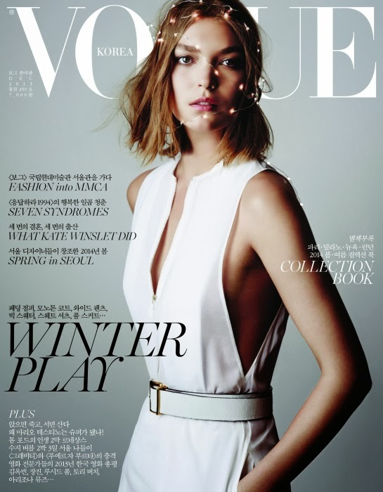 Magazine Cover: Arizona Muse on the Cover of Vogue Korea Magazine December 2013