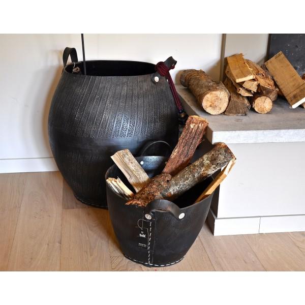 Cesti porta legna e porta tutto in pneumatico riciclato for Cesti porta legna ikea