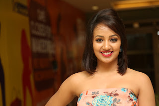 Tejaswi Madivada in lovely Floor length Shoulder less sleeveless Gown at Infinity ride event Hyderabad