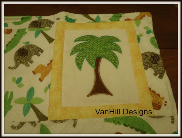 Jungle Themed Baby Gifts Uk : Jungle theme embroidered baby gift set vanhill designs