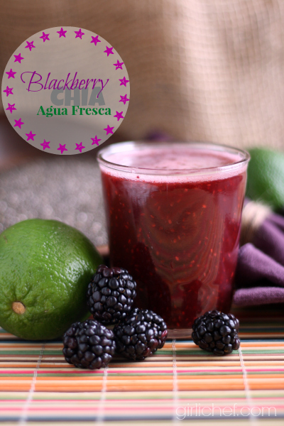 Blackberry Chia Agua Fresca