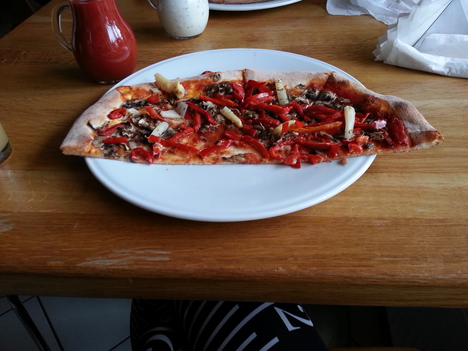 In Centro, Lodz, Poland, Vegan Pizza