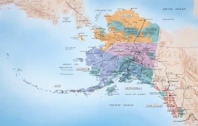 Alaska Map Regional City