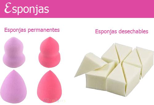 aplicar base maquillaje esponjas
