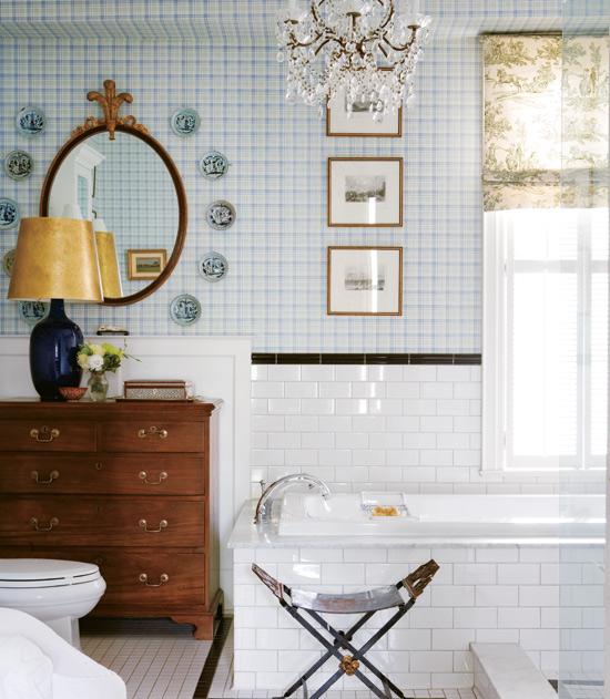 Blog de decora o arquitrecos papel de parede no teto for English cottage bathroom ideas