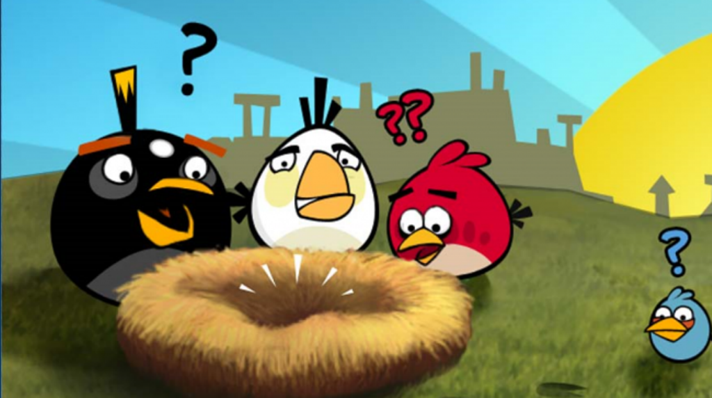 Angry Birds Cartoon HD Background Desktop Background