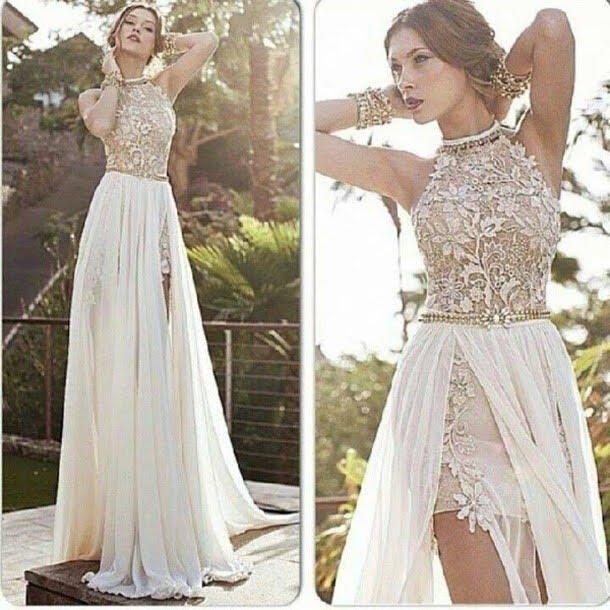 Vestidos largos elegantes fucsia