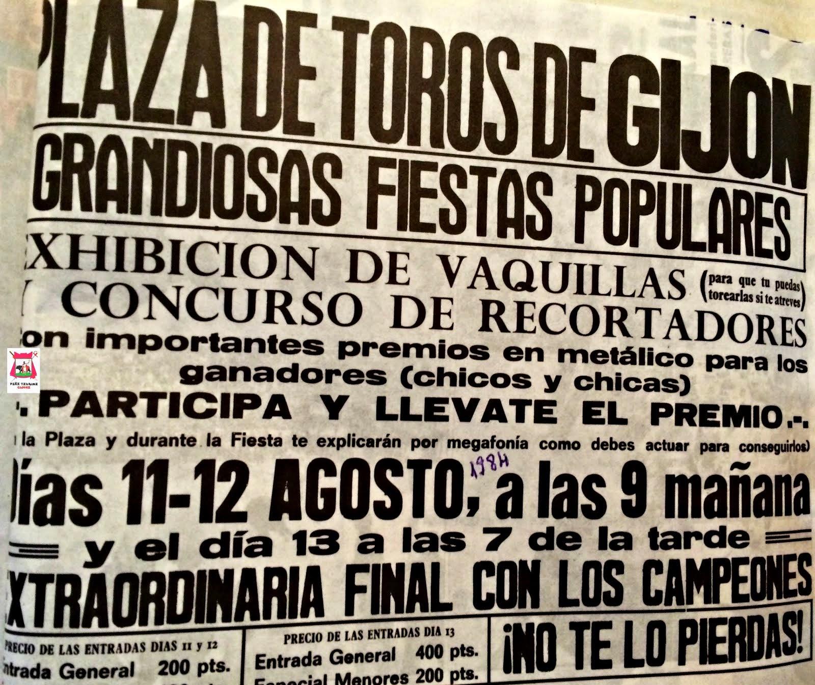 GIJON VAQUILLAS 1984