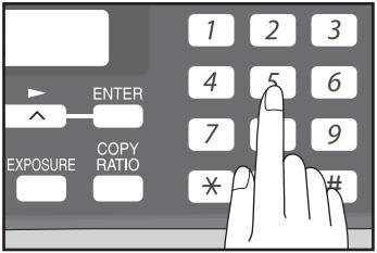 Клавиатура копировального аппарата
