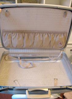 Vintage Suitcase   DIY Reupholstered Samsonite Suitcase with Cath Kidston Wallpaper