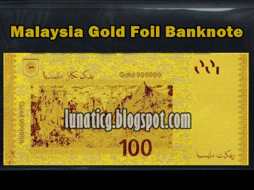gold ringgit banknote