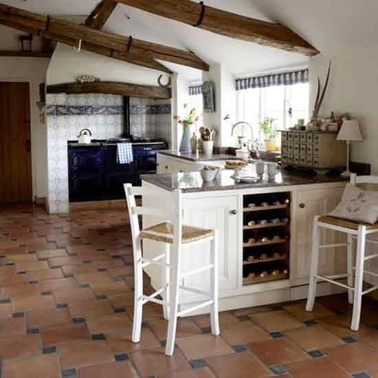 New home interior design country kitchens for Country farm kitchen ideas