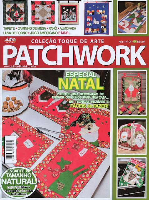 Patchwork, bolsas e afins, Maria Adna,  Maria Adna publica dois artigos na revista Patchwork -01 Coleção Toque de Arte, Julho Editorial,