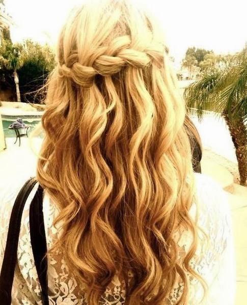 Waterfall Braid In Long Hair