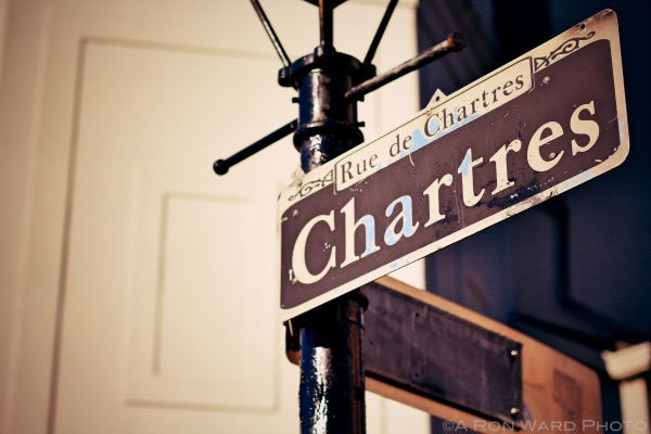 Chartres Street Sign