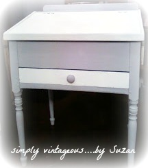 antique desk, ascp white, ascp paris gray