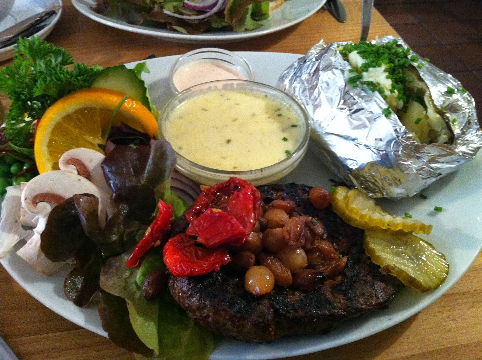 beef in Cafe Olai in Helsingor