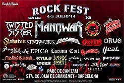 Horarios del Rock Fest BCN de Barcelona